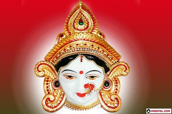 Goddesss Durga Mata Face Pictures Designs
