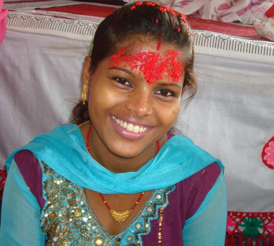 Dashain Tika Forehead Vijayadashami Image