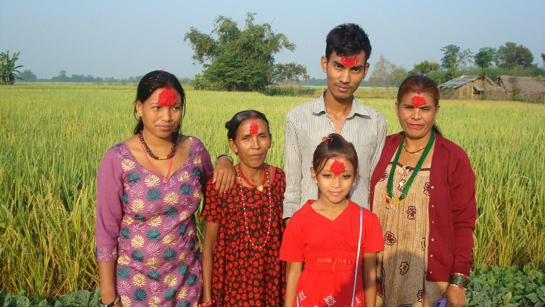 Dashain Tika Vijayadashami Images family