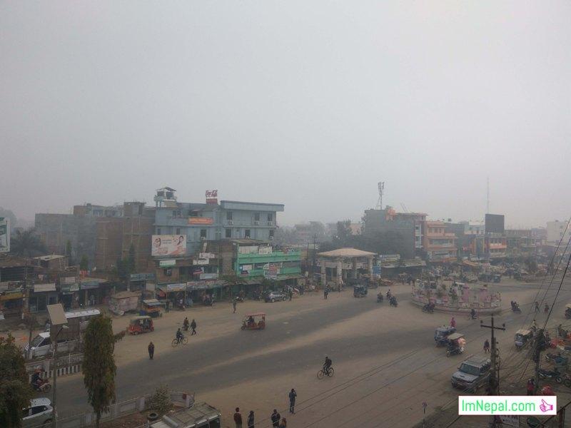 Lahan city Siraha Hussu Fog Image Terai Madhesh nepal