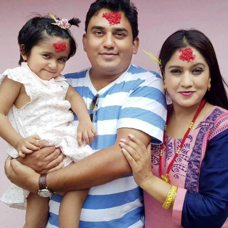 Nepali actor actress celebrities dhurmus Suntali dashain