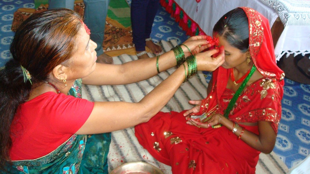 20 Best Dashain Pictures Collection Of Vijaya Dashami Putting Tika on The Forehead