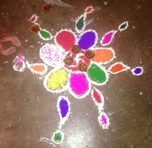 Diwali Deepavali Deepawali Tihar Decoration home Rangoli Design Images Pictures Photos