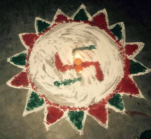 Diwali Deepavali Deepawali Tihar Decoration home Rangoli Designs Images Picture Photos