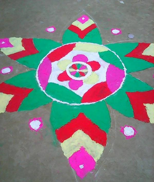 Diwali Deepavali Deepawali Tihar Decoration home Rangoli Designs Images Pictures Photo
