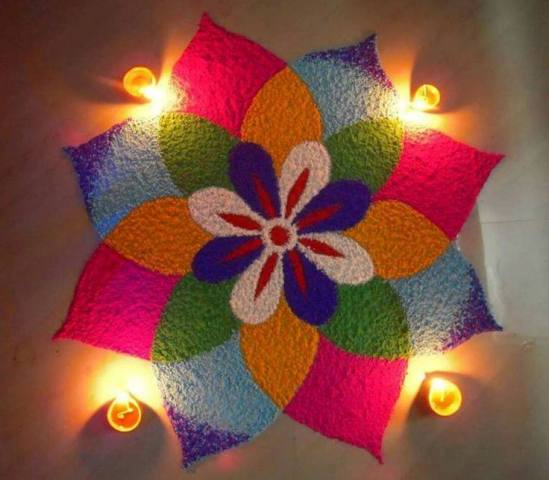 Diwali Deepavali Deepawali Tihar Decoration home Rangoli Designs Images PicturesPhoto