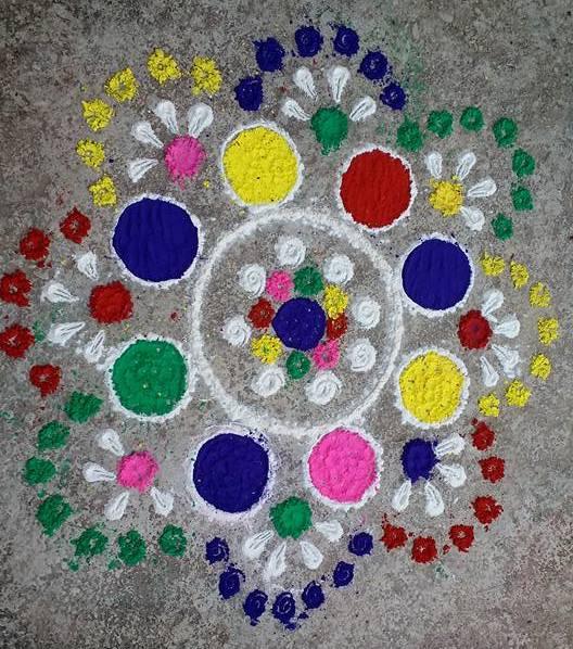 Diwali Deepavali Deepawali Tihar Rangoli Designs Images Picture