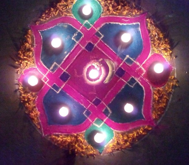 Diwali Deepavali Deepawali Tihar Decoration home Rangoli Designs Images Pictures Photos