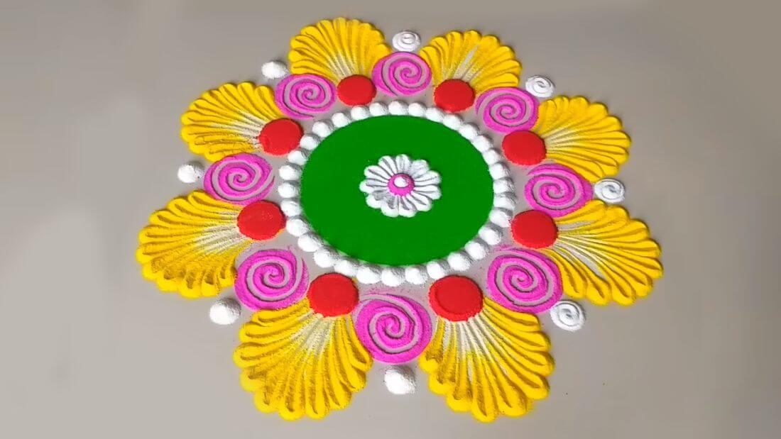 Diwali Rangoli Design Deepavali HD Images Photos Color Pictures