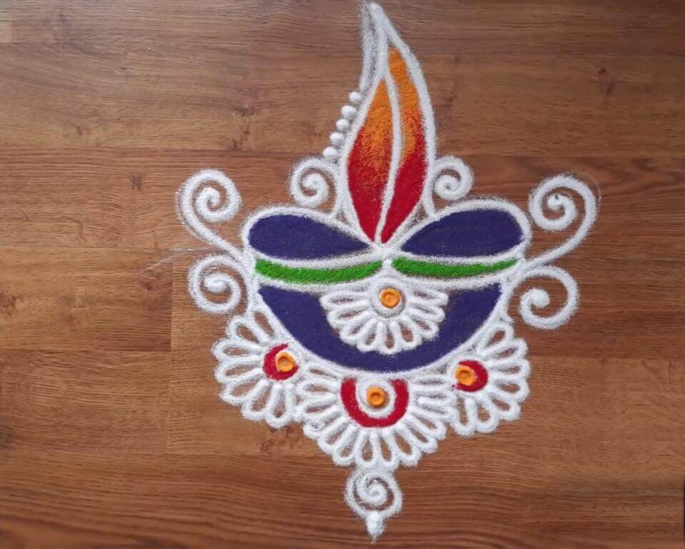 Diwali Rangoli Designs Tihar Deepavali HD Image Photos Colors Picture