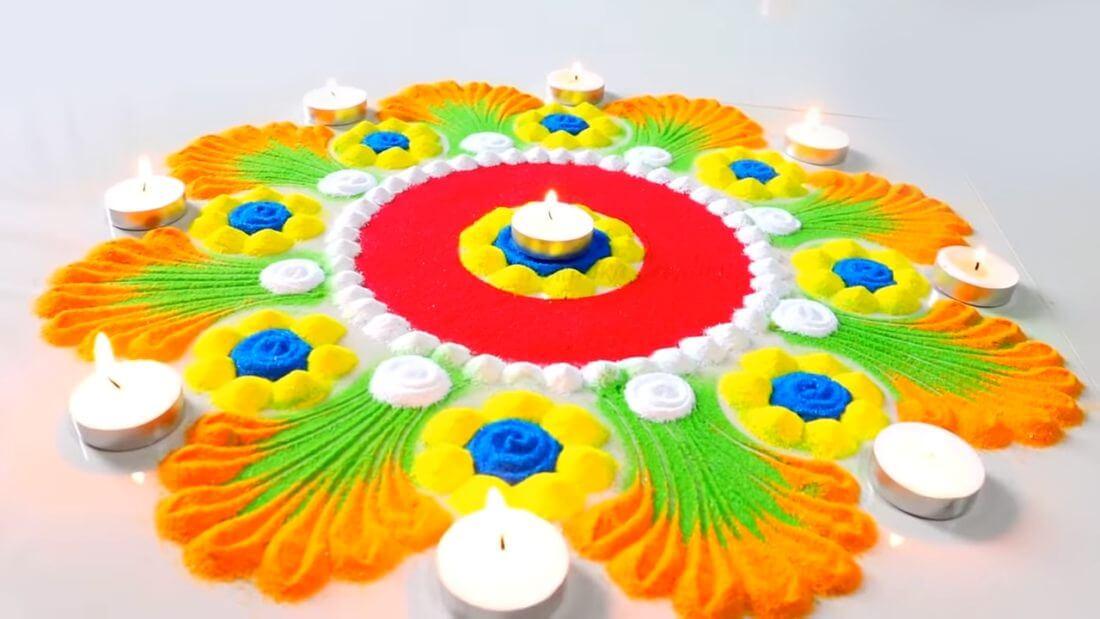 Rangoli Design Photo For Diwali Festival