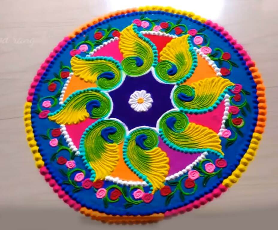 Diwali Rangoli Designs Tihar Deepavali HD Image Photos Colors Picture