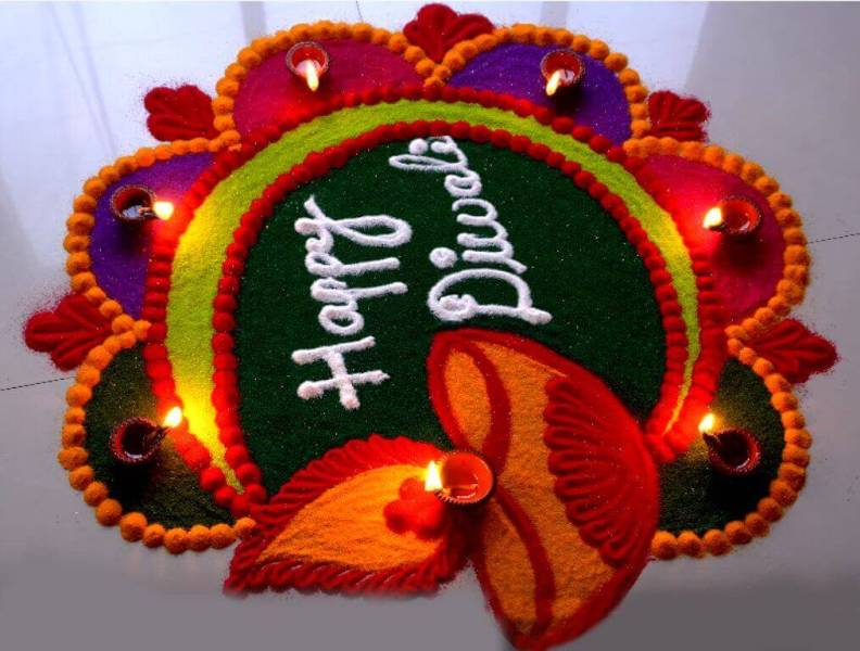 Diwali Rangoli Designs Deepavali Tihar Festival Images Photos Colors Pictures