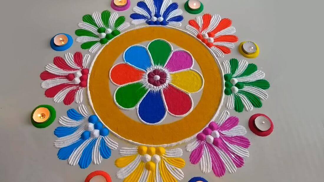 Diwali Rangoli Designs Deepavali Tihar Festival Images Photos Colors Pictures