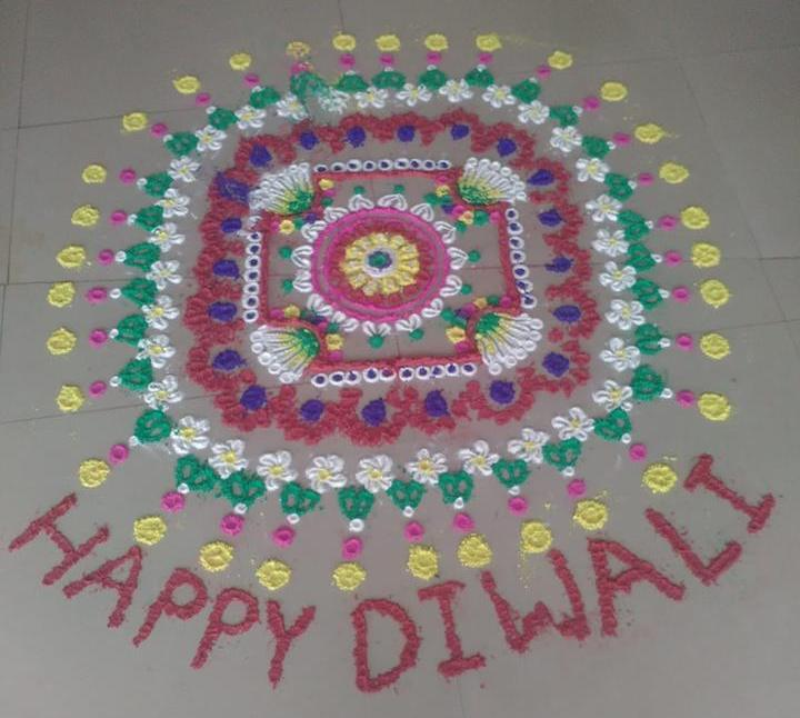 Happy Diwali Deepavali Deepawali Tihar Decoration home Rangoli Designs Images Pictures Photos