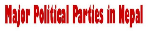 Major political parties in Nepal