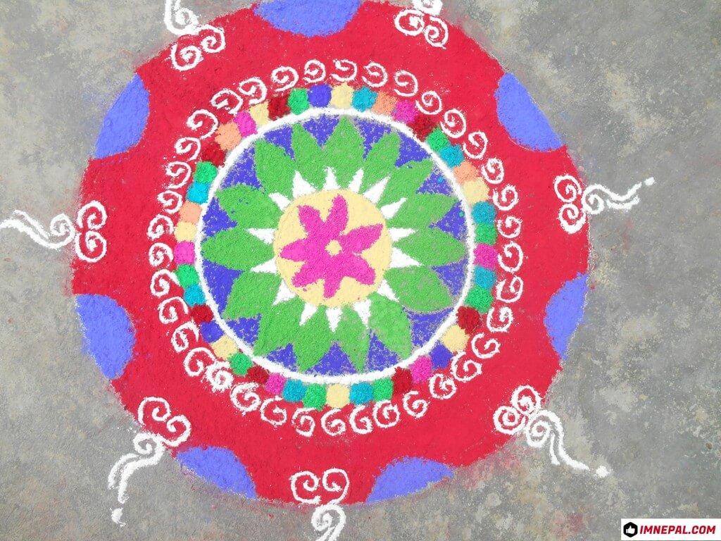 Tihar Deepawali Diwali Rangoli Image