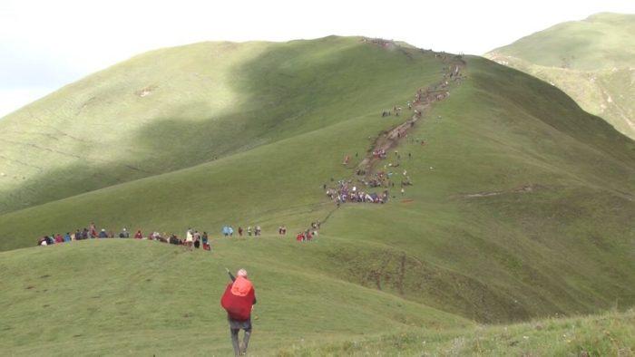 tourists on the way to Badimalika, Bajura, Nepal