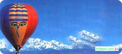 hot air balloon Nepal