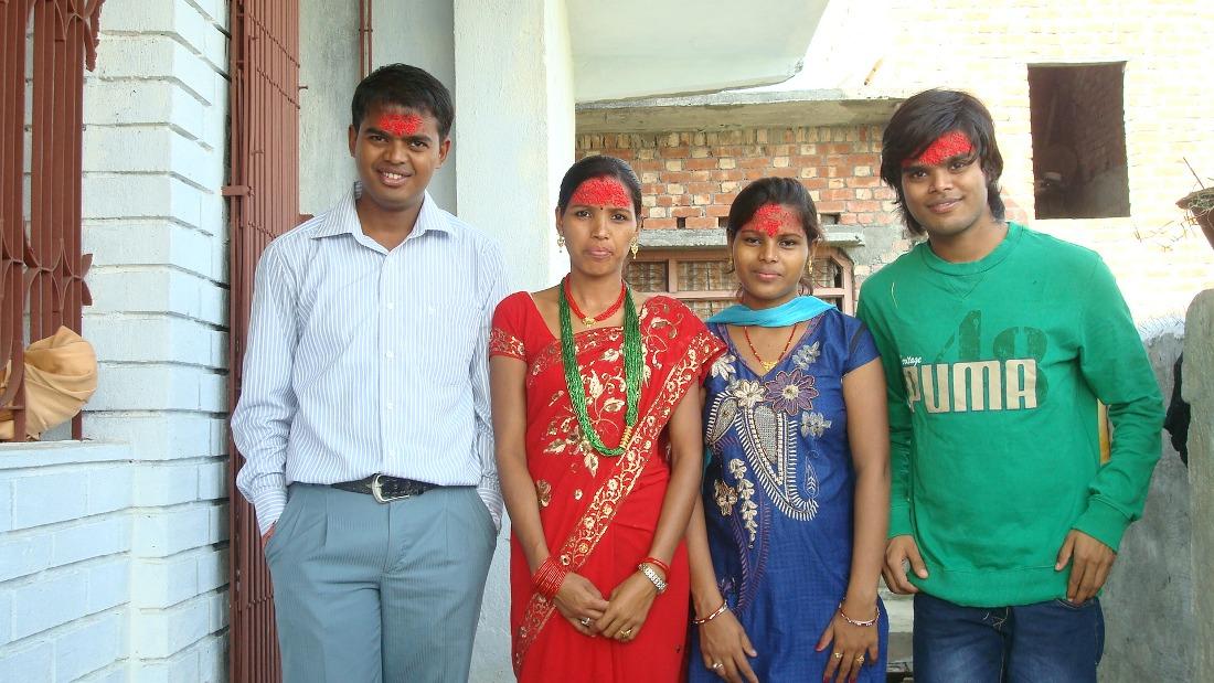 Dashain Tika Vijayadashami Photo brothers siters