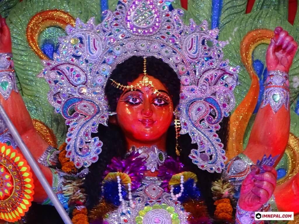 Goddess Durga Mata Face Image