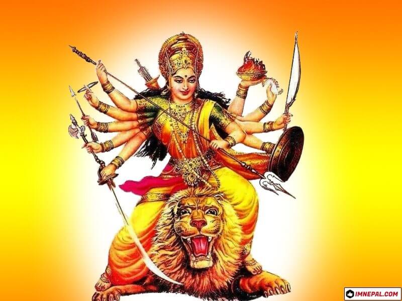 Hindu Goddess Durga Mata Navratri Dussehra Dashain HD Wallpapers Images