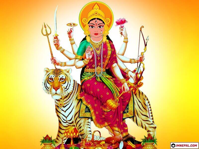 Hindu Goddess Durga Mata Navratri Dussehra Dashain HD Wallpapers Images