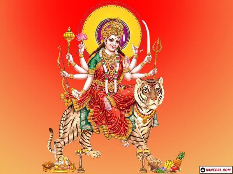 Hindu Goddess Maa Durga Mata Navratri Dussehra Dashain HD Wallpapers Pictures