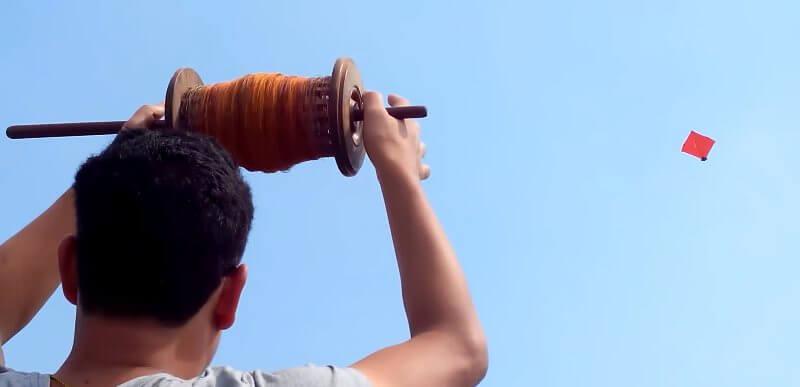 Kite Flying On Dashain Festival Images