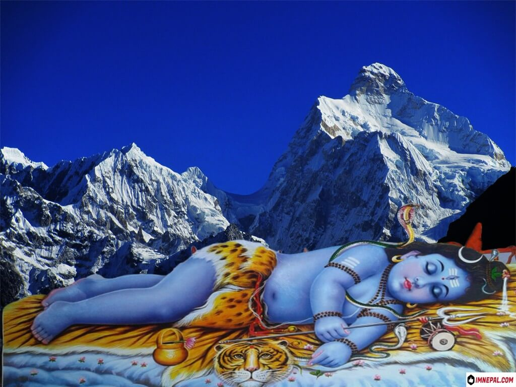 Lord Shiva sleeping Picture