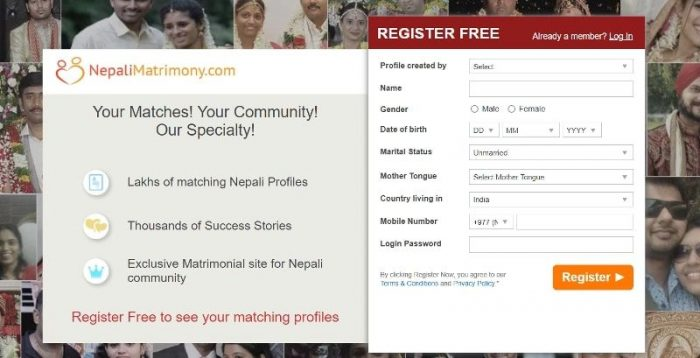 Nepal matrimonial website for Nepali girl marriage