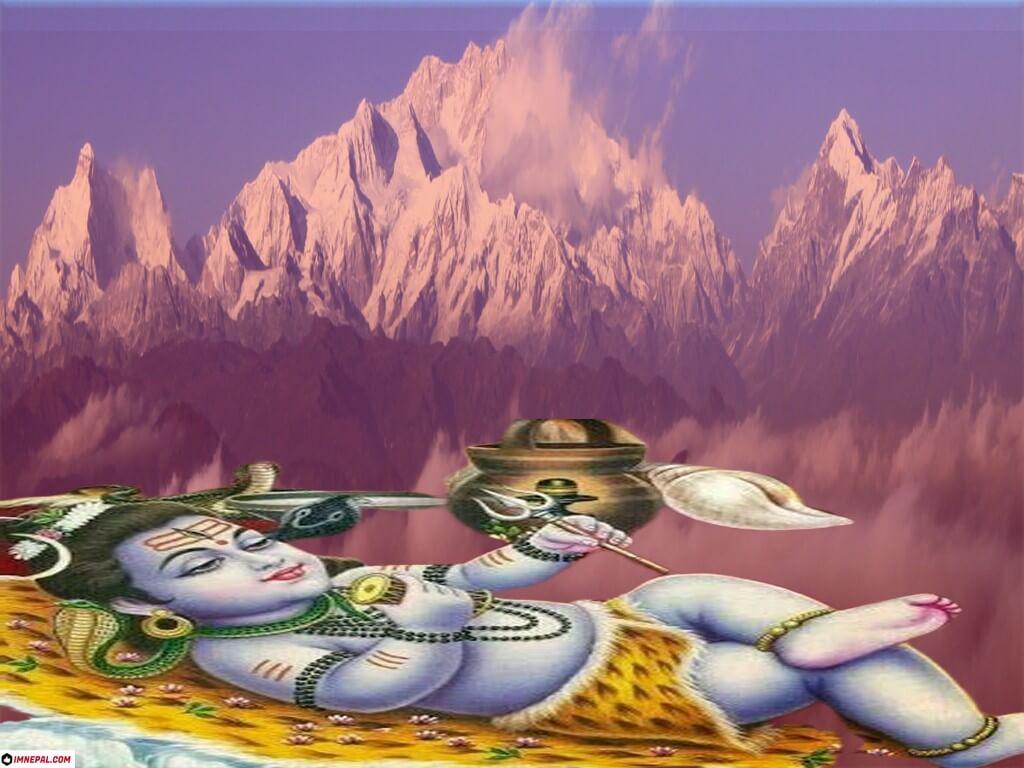 Lord Shiva sleeping  Image