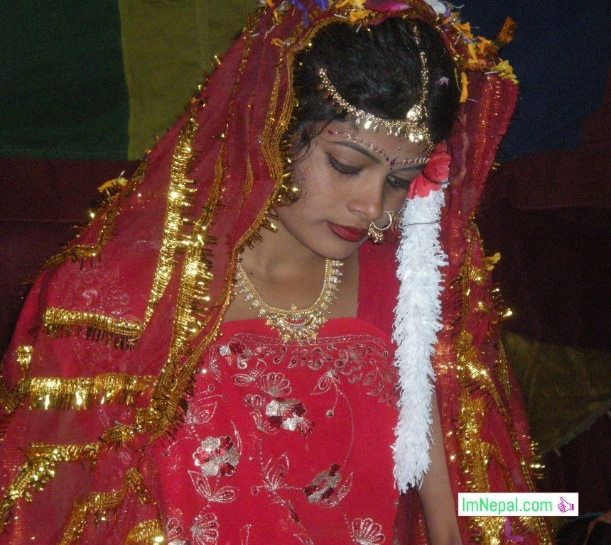 a beautiful bride in swayambar stage marriage bibah ceromoney Madhesh Terai Mithila Nepal