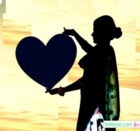 nepali girl lady love symbol valentines day message for lover honey wishes sms