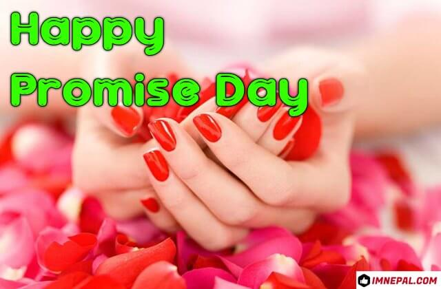 Happy Promise Day Greeting Card Image wishes Quotes