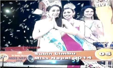 Miss Nepal 2014 is Subin Limbu From Dharan