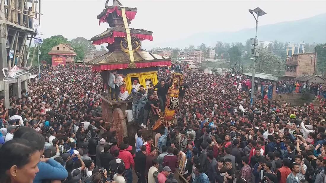 Holidays Tours in Nepal During Bisket Jatra Bhaktapur Nepal