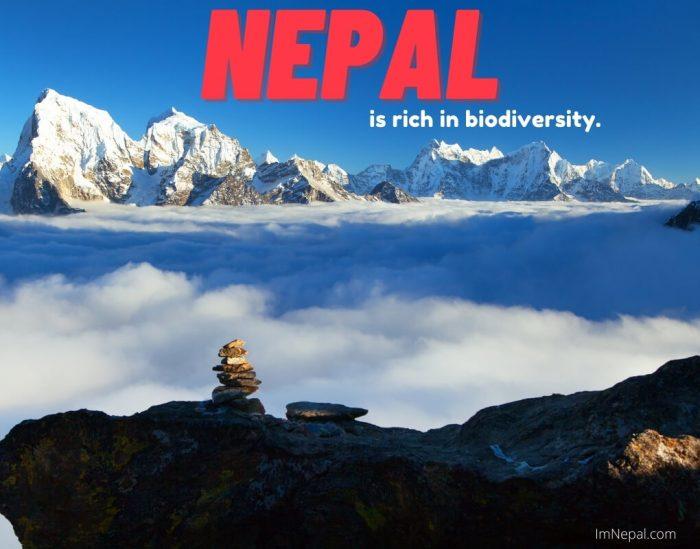 Nepal is rich in biodiversity.