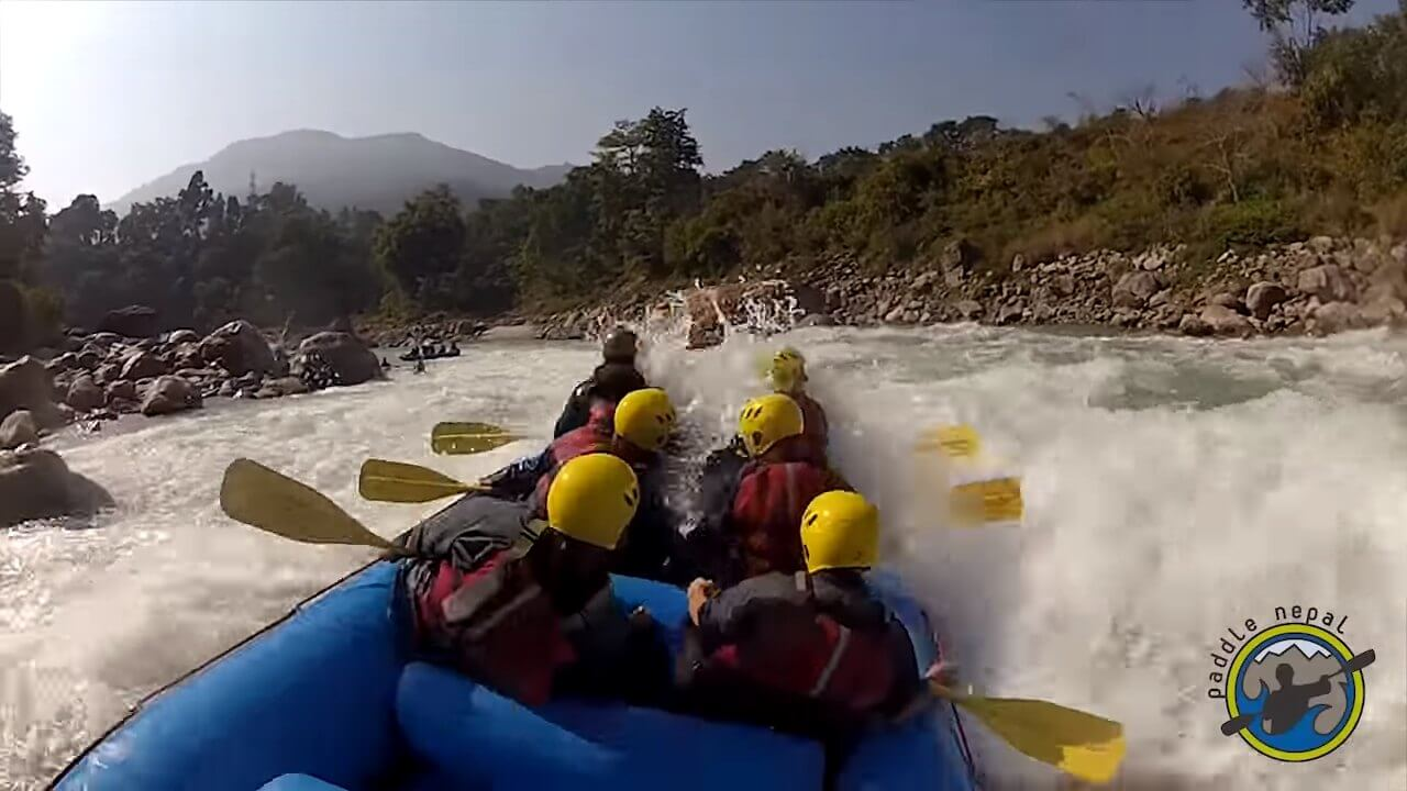 Rafting in Marshyangdi River Nepal