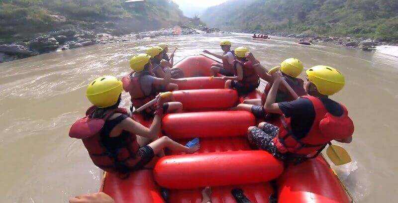Rafting in Trishuli River, Nepal