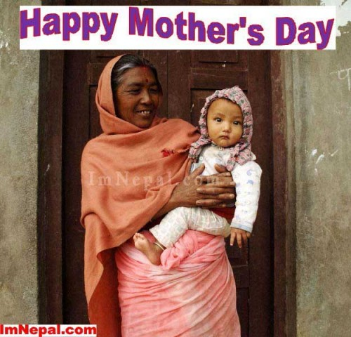 happy mother's day 2015 in Nepal