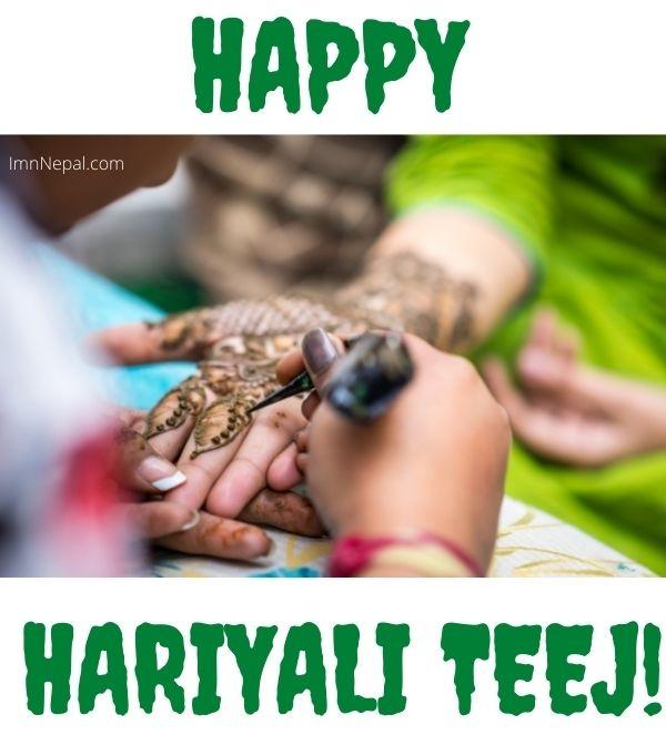 Happy Hariyali Teej Wishes Image