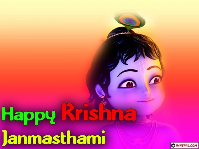 Happy Krishna Janmashtami HD Images Greeting Cards