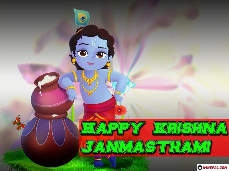 Happy Krishna Janmashtami HD Images Greeting Cards