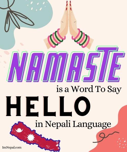 How to Say Hello in Nepali language Namaste
