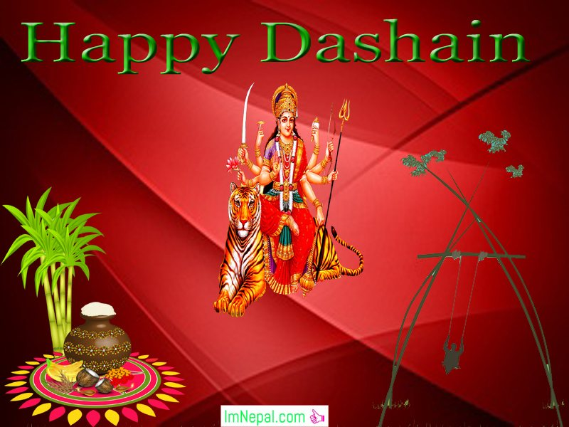 Happy Dashain Vijayadashami Greeting eCard Wishe Images Quotes Wallpapers Pictures Navratri