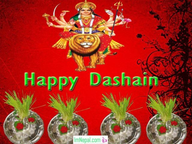 Happy Dashain Vijayadashami Greeting eCards Wishes Image Quotes Wallpapers Pictures Navratri