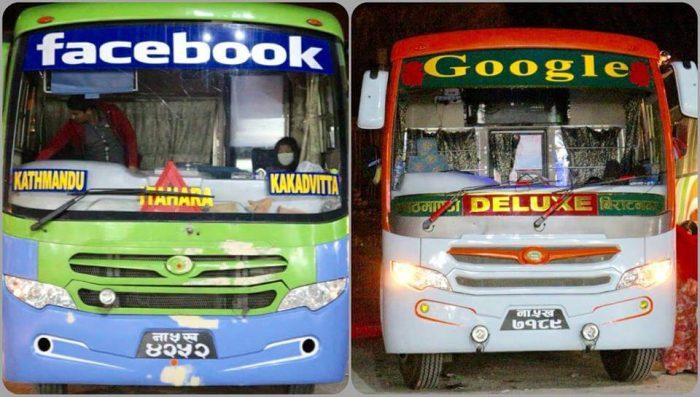 facebook google bus Nepal name