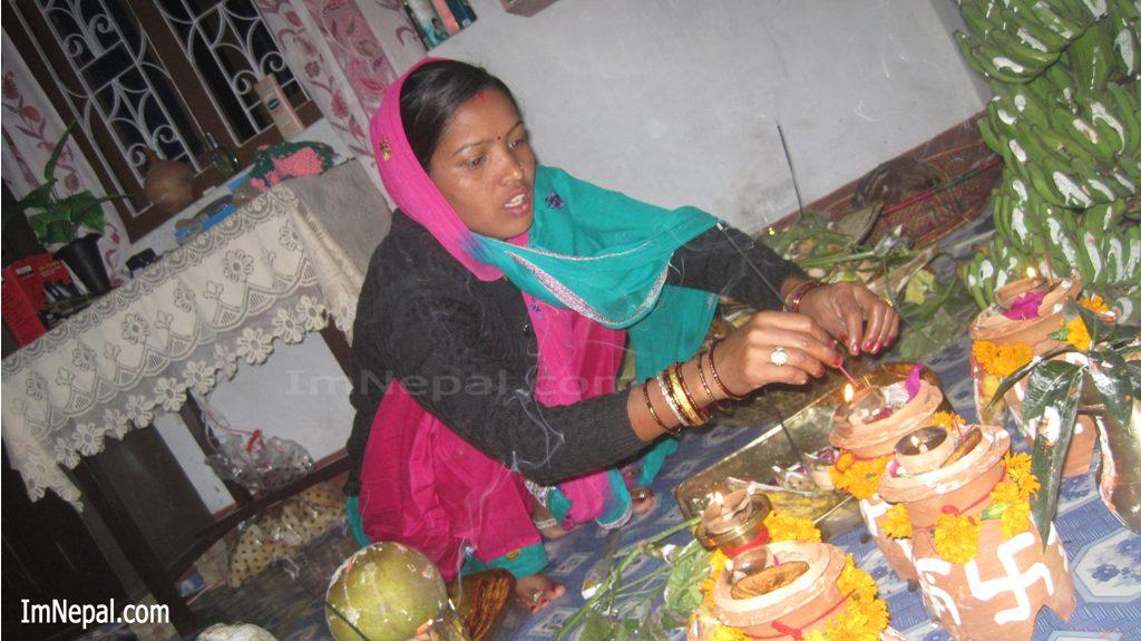 Chhath Pooj Festival Hindu Fesitval God Sun and Goddess Chhathi Maiya