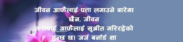 Life Quotes Quotations Sayings Bhanai in Nepali language font image